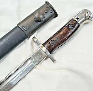 RARE WW1 & WW2 BRITISH ISSUED SANDERSON 303 RIFLE BAYONET SCABBARD SWORD ARMY