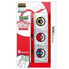 NEW Pocket Monster Push Card Case 6 Nintendo 3DS Pokemon Sun Moon Monster Ball