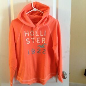 Hollister Pullover Hoodie Sweatshirt Sweater RELAXED FIT bling WORN ONCE size M