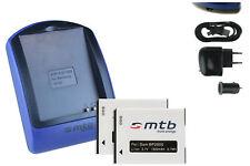 Chargeur + 2x Batterie (USB) BP2000 pour Samsung Galaxy Camera 2 (EK-GC200)