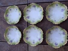 Set of  6 Antique RS Germany Berry Bowls