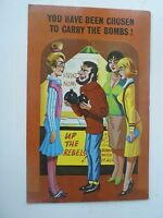 Retro Vintage Comic Postcard FLAT CHEST SMALL BOOBS HUMOUR""
