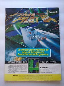 Konami Time Pilot 84 Magazine Trade AD Retro Gaming Vintage 1984 Space Age