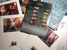 2018 Royal Mail Folder Il Trono di Spade Game of Thrones LE 10000 COA Poster