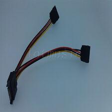 2PCS 20cm SATA Power T/Y Splitter Extension Cable Adapter