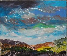 original contemporary landscape painting on canvas board with free postage