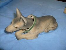 Vintage Novelty Bouncing Head Dog coin Bank - German Shepard  fun Dabs Co.! / s2