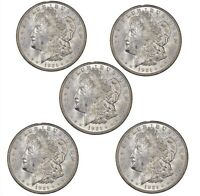 1921-P Morgan Silver Dollar BU Lot of 5
