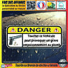 Stickers Autocollant humour DANGER NE PAS TOUCHER auto moto arme munition PLOMB