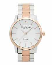 Bnew KENNETH COLE NEW YORK KC50855001 Two-Tone Diamond Mens Watch