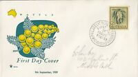 AFD1050) Australia 1959 Royal FDC - 5 Diff. Colour Cachets - Definitives: Flower