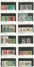 Indonesia, Postage Stamp, #648//788 Mint NH & LH, 1964-70, JFZ