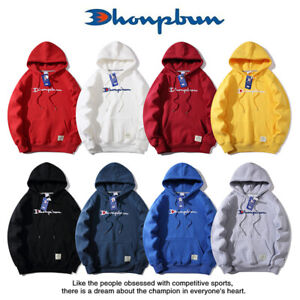 Classic Ladies Men's Champion Hoodie Embroidery Hooded Sweater Jacket Fashion