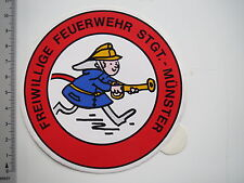 Aufkleber Sticker Freiwillige Feuerwehr Münster (7551)