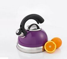 New listing Creative Home 77040 Symphony Plum Over Stainless Steel Body Whistling Tea Kettl