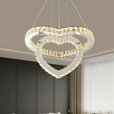 Led Crystal Chandeliers Pendant Lamp 50W 110v Modern Heart Ceiling Fixtures Lamp