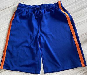 Childrens Place Boys Blue/Orange Basketball Shorts With Pockets Size Large 10/12