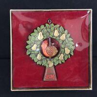 VTG Hallmark Tree Trimmer Ornament 1976 Partridge in a Pear Tree Hong Kong