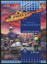 SOLOMON ISLANDS 2016 SPECIAL TRANSPORT  SOUVENIR SHEET  MINT NH