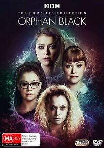 ORPHAN BLACK 1-5 (2013-2017) COMPLETE Clone TV Season Series  Au R4 DVD not US
