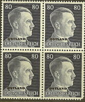 Stamp Germany Ostland Mi 18 Block 1941 WW2 War Reich Hitler Estonia MNH