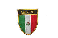 MEXICO COUNTRY FLAG OVAL SHIELD FLAG EMBROIDERED IRON-ON PATCH CREST BADGE