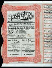1907 Lima: Banco del Peru y Londres, Ten Pounds of Peruvian Gold - uncancelled
