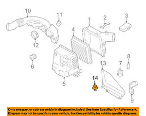 SUBARU OEM 10-16 Forester Air Cleaner-Air Inlet Duct Clip 909140063