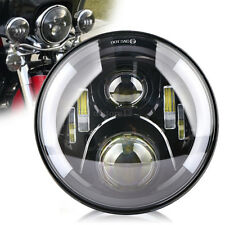 "7"" 50W Moto PROJECTEUR Daymaker Halo Angel Eyes CREE LED PHARE PASSING pr Harley"