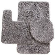 "3 Piece Elite Spa Collection Rug Set Large Mat 20""x""31 Contour 20""x""20 Gray"