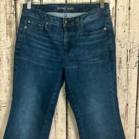Michael Kors Blue Denim Medium Wash Capri Crop Stretch Jeans Women's Size 6/00