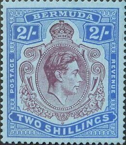 Bermuda 1938 GVI Two Shillings Keyplate SG 116 mint