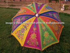 Indian Embroidered Garden Parasol Handmade Outdoor Sun Shade Patio Umbrella 72""