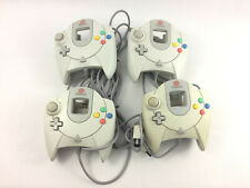 Set of 4 White Sega Dreamcast Controllers - USED & UNTESTED, Free Shipping -
