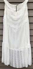 NWT Solitaire Plus 2X Ivory Stretch Lace Maxi Skirt. Lined.