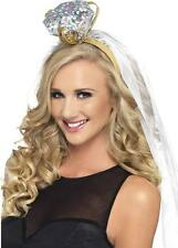 Hen Party Bride To Be Ring Headband with White Veil Wedding Accessory 26788