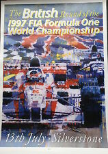 Jean Alesi and Johnny Herbert Hand Signed British Grand Prix 1997 Poster.