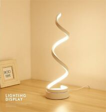 Modern LED Bedside Spiral Table Lamp Creative Design Curved Dimmable Warm White