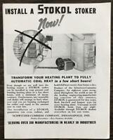 1936 Schwitzer-Cummins Company Indianapolis Print Ad Install a Stokol Stoker Now