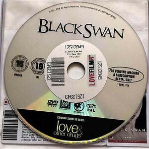 Black Swan (DVD) Disc Only - Natalie Portman - Mila Kunis - Dancer - (2010)