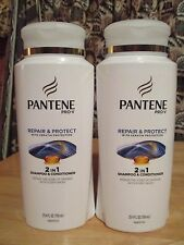 2 PANTENE Prov-V Repair & Protect w Keratin 2 in 1 Shampoos & Conditioners 25 oe