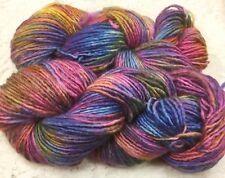 merino yarn aran wt hand dyed 185 yds yds speckled denim rose scarf cowl shawl