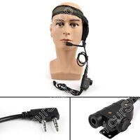 1PCS 2Pin HD01 Z-Tactical Bowman Elite Headset PTT For Kenwood Radio A9