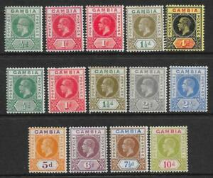 Gambia 1912-22 Mint Selection