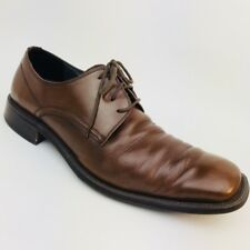 Steve Madden Size 12 Men's Brown Leather Lace-Up Shoes Made in Italy