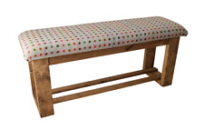 Wooden Upholstered Hallway/Dining Table Bench - Multispot Grey Fabric