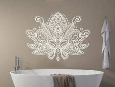 Lotus Flower Wall Decal Mandala Mehndi Vinyl Sticker Decals Namaste Decor NV200