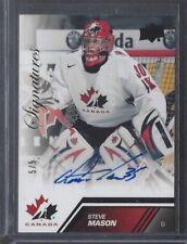 2013-14 Upper Deck Team Canada Autographs Black #184 Steve Mason 5/5