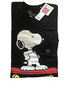 Kaws X Peanuts Uniqlo T Shirt Size XL Snoopy Joe Kaws Cool Skateboard
