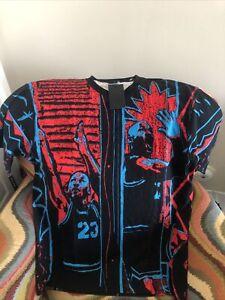 NIKE AIR JORDAN DNA SHIRT RARE  BASKETBALL BLUE / RED RETRO NWT Size L TALL Mens